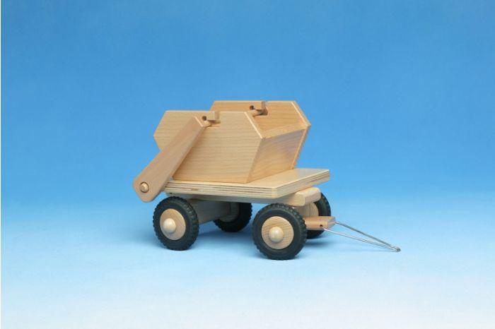 Anhänger Müllfahrzeug aus Holz