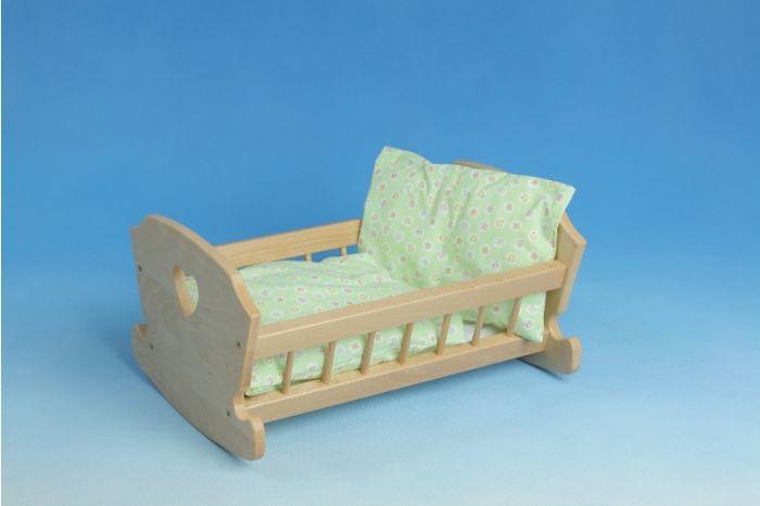 Puppenwiege aus Holz - nachhaltig und stabil