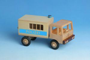 LKW Polizei aus Holz - Werdauer Holzspielzeug