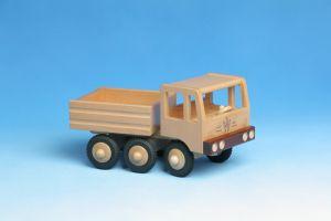 Zugmaschine Kipper (3-achsig) aus Holz