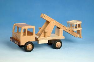 Arbeitsbühne - Hebebühne aus Holz zum Spielen - Werdauer Holzspielzeug