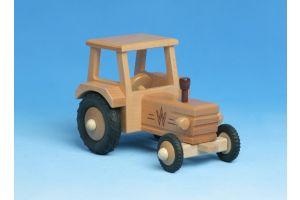 Traktor mit Dach aus Holz