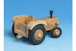 Traktor ohne Dach aus Holz - Werdauer Holzspielzeug