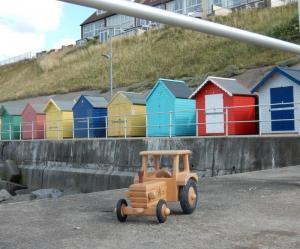 Unser Traktor auf Reisen